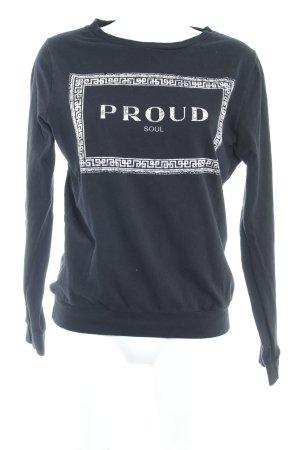 Zara Trafaluc Sweatshirt schwarz grafisches Muster Casual-Look
