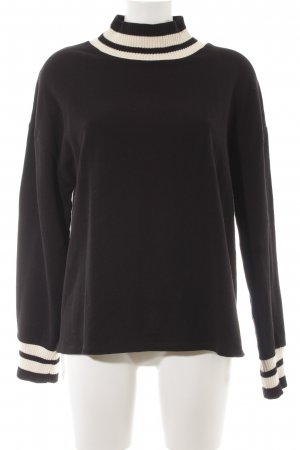 Zara Trafaluc Sweatshirt schwarz-weiß Casual-Look