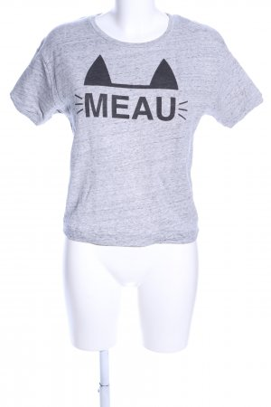 Zara Trafaluc T-Shirt hellgrau meliert Casual-Look