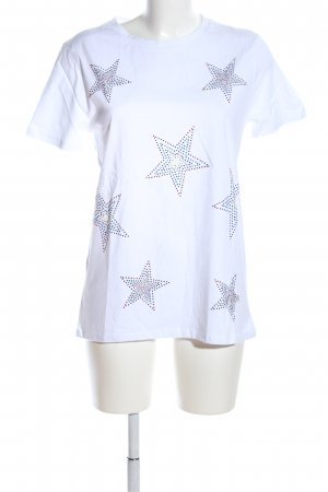 Zara Trafaluc T-Shirt weiß Motivdruck Casual-Look