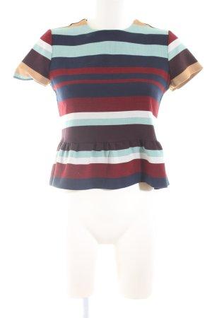 Zara Trafaluc T-Shirt Streifenmuster Casual-Look
