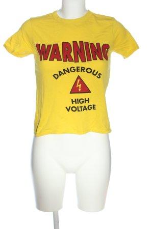 Zara Trafaluc T-Shirt Schriftzug gedruckt Casual-Look