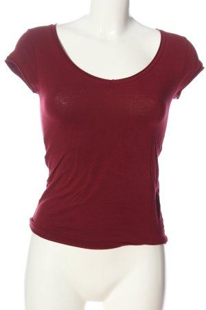 Zara Trafaluc T-shirt rouge style décontracté