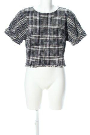 Zara Trafaluc T-Shirt schwarz-weiß Karomuster Casual-Look