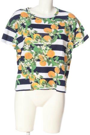 Zara Trafaluc Camiseta estampado a rayas look casual