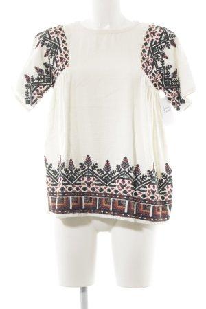 Zara Trafaluc T-Shirt abstraktes Muster Casual-Look