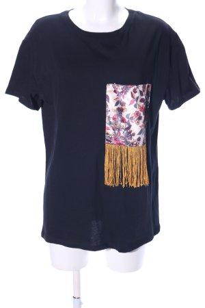 Zara Trafaluc T-Shirt Blumenmuster Casual-Look