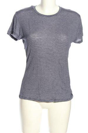 Zara Trafaluc T-Shirt hellgrau Streifenmuster Casual-Look
