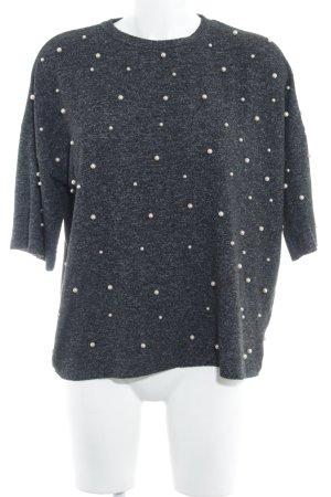 Zara Trafaluc T-Shirt Monogram-Muster Business-Look