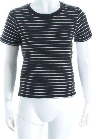 Zara Trafaluc T-Shirt schwarz-weiß Ringelmuster Casual-Look