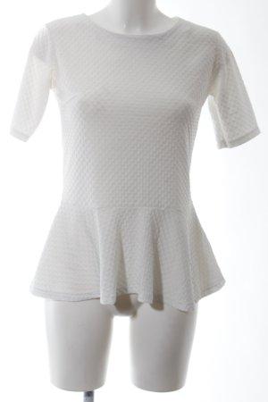 Zara Trafaluc T-Shirt weiß Allover-Druck Business-Look