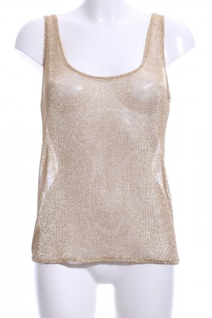 Zara Trafaluc Tanktop goldfarben Party-Look