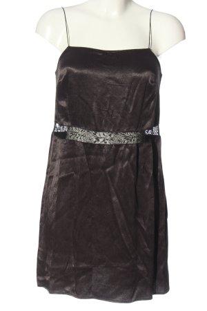 Zara Trafaluc Trägerkleid braun-schwarz Casual-Look