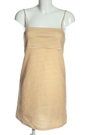 Zara Trafaluc Trägerkleid hellorange-weiß Streifenmuster Casual-Look