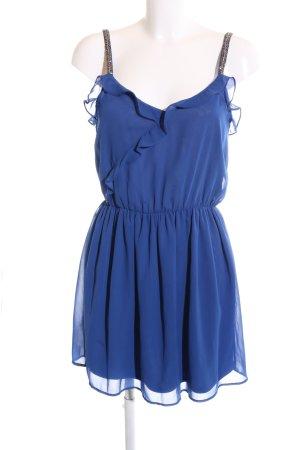 Zara Trafaluc Trägerkleid blau Elegant
