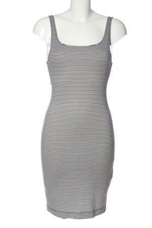 Zara Trafaluc Trägerkleid weiß-schwarz Streifenmuster Casual-Look