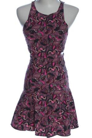 Zara Trafaluc Abito scamiciato rosa-nero motivo astratto elegante