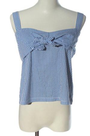 Zara Trafaluc Top met spaghettibandjes blauw-wit gestreept patroon
