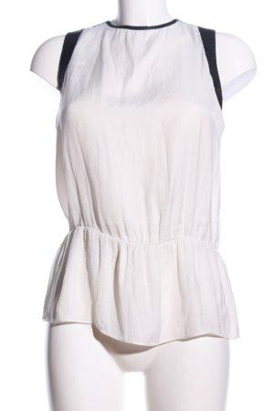 Zara Trafaluc Trägertop weiß-schwarz Casual-Look
