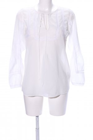 Zara Trafaluc Transparenz-Bluse weiß Casual-Look