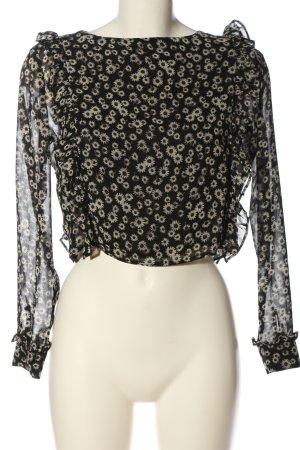 Zara Trafaluc Transparenz-Bluse Blumenmuster Casual-Look