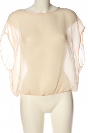 Zara Trafaluc Transparenz-Bluse creme Casual-Look