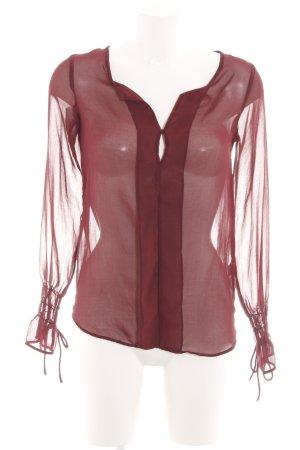 Zara Trafaluc Transparenz-Bluse rot Elegant