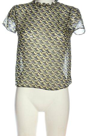 Zara Trafaluc Transparenz-Bluse Allover-Druck Casual-Look
