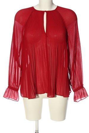 Zara Trafaluc Transparenz-Bluse rot Casual-Look