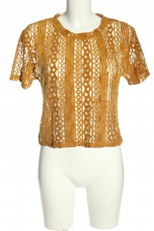 Zara Trafaluc Transparenz-Bluse bronzefarben Elegant