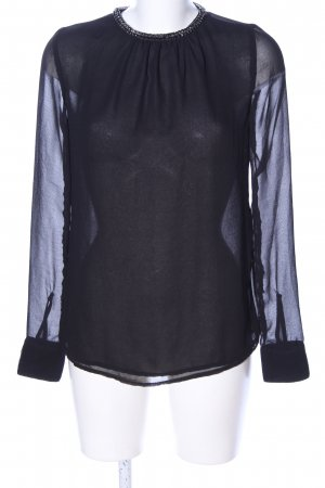 Zara Trafaluc Transparenz-Bluse schwarz Business-Look