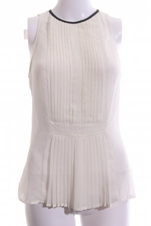Zara Trafaluc Transparenz-Bluse creme-schwarz Elegant