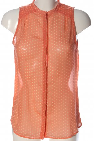 Zara Trafaluc Transparenz-Bluse rot-creme Allover-Druck Casual-Look