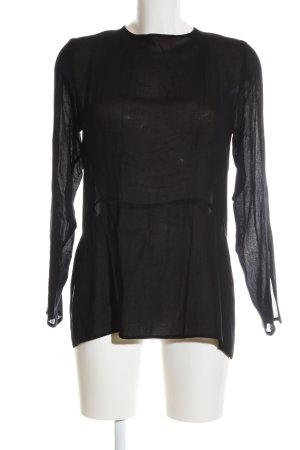 Zara Trafaluc Transparenz-Bluse schwarz Elegant