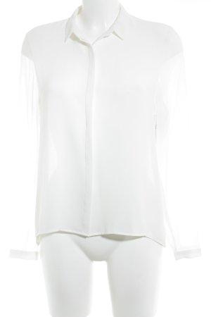 Zara Trafaluc Transparenz-Bluse weiß Elegant