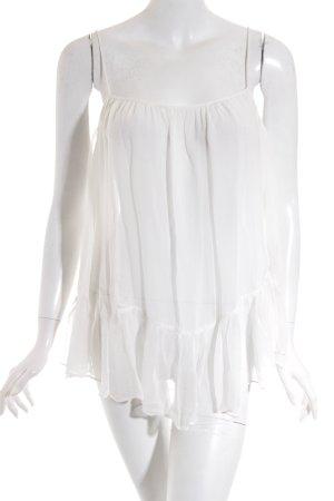 Zara Trafaluc Transparenz-Bluse wollweiß