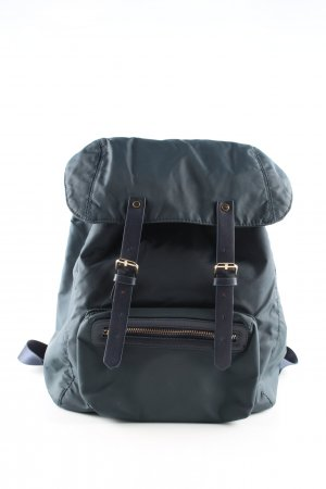 Zara Trafaluc Trekking Backpack blue casual look