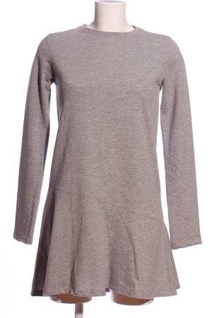 Zara Trafaluc Vestido de tela de jersey gris claro moteado look casual