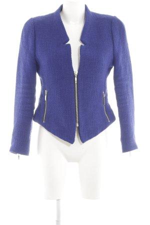 Zara Trafaluc Tweedblazer blau Business-Look