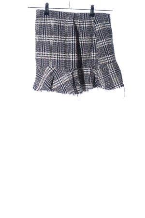 Zara Trafaluc Tweed rok zwart-wit geruite print casual uitstraling