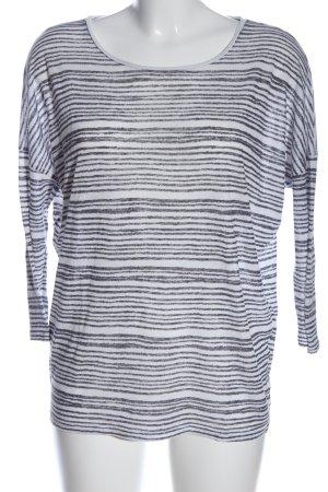 Zara Trafaluc Longsleeve weiß-schwarz Streifenmuster Casual-Look
