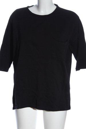 Zara Trafaluc Camisa holgada negro look casual