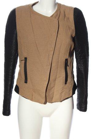 Zara Trafaluc Veste mi-saison brun-noir motif de courtepointe
