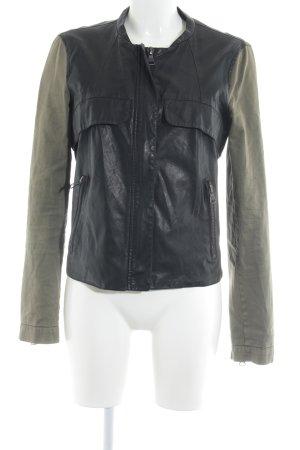 Zara Trafaluc Übergangsjacke schwarz-khaki Casual-Look