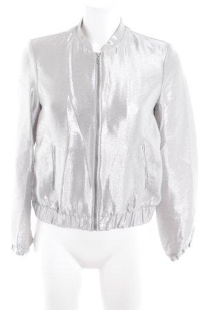 Zara Trafaluc Übergangsjacke silberfarben extravaganter Stil