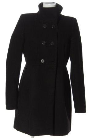 Zara Trafaluc Abrigo de entretiempo negro moteado look casual
