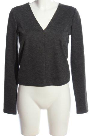 Zara Trafaluc V-Ausschnitt-Pullover hellgrau klassischer Stil