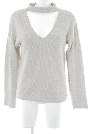 Zara Trafaluc V-Ausschnitt-Pullover creme Casual-Look