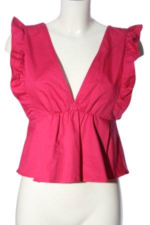 Zara Trafaluc V-Ausschnitt-Shirt pink Casual-Look