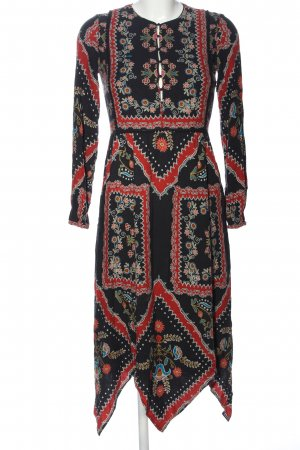 Zara Trafaluc High Low Dress graphic pattern casual look